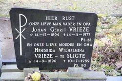 Hendrika Wilhelmina <I>te Sligte</I> Vrieze