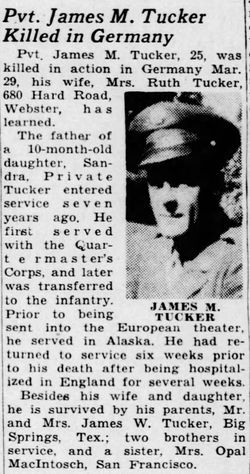 Pvt James Monroe Tucker