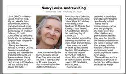 Nancy Louise Andrews King