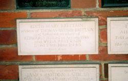 Edith Mary <I>Bervon</I> Brittain