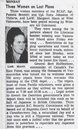 Leading Aircraftwoman Margaret M Mann