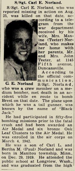 SSGT Carl Edwin Norland