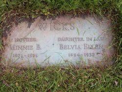 Belva Ellen <I>Frazier</I> Wicks