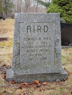 "Agnes Lavinia ""Nan"" <I>Richards</I> Aird"