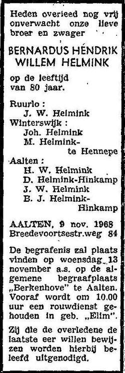 Bernardus Hendrik Willem Helmink