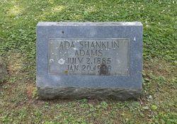 Mrs Ada Bell <I>Shanklin</I> Adams