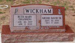 Ruth <I>Shannon</I> Wickham
