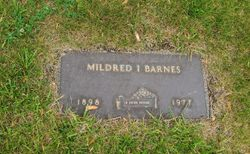 Mildred I. <I>Carlson</I> Barnes