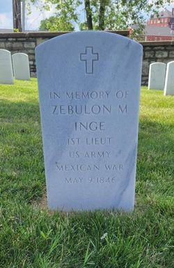 1LT Zebulon Montgomery Pike Inge