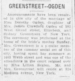 Dorothy Marie <I>Ogden</I> Greenstreet