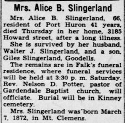Alice Bell <I>Huff</I> Slingerland