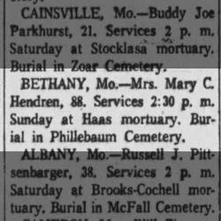 Mary Catherine <I>McCollum</I> Hendren