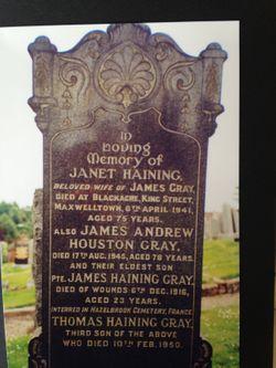 Janet <I>Haining</I> Gray