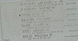 PVT Lyle Wayne Reab