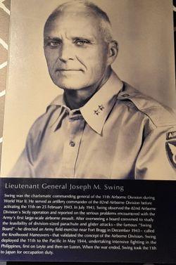 LTG Joseph May Swing