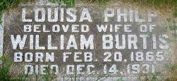 Annie Louisa <I>Philp</I> Burtis