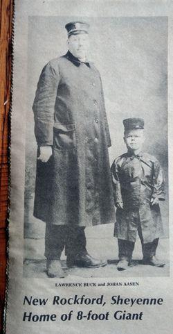 """Johan John """"Johnny the Giant"""" Aasen"""