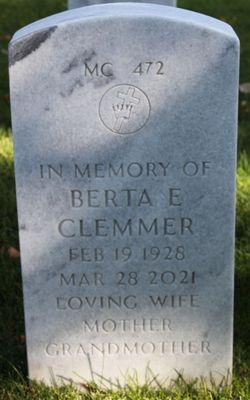 Berta Edith <I>Green</I> Clemmer