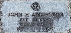 Pvt John Henry Addington