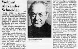 """Alexander """"Sasha"""" Schneider"""