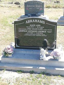 "Leopold Anthony George ""Tony"" Abrahams"