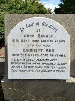 Harriett Ann <I>Biggs</I> Savage