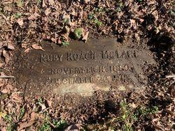 Ruby <I>Roach</I> McLane
