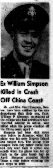 Capt William P Simpson
