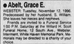 Grace E. <I>Ditner</I> Abelt